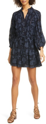 Joie Adel Floral Print Long Sleeve Minidress