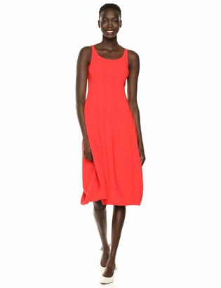 Halston Women's Sleeveless Scoop Neck FIT and Flare Dress