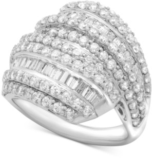 Wrapped in Love Diamond Layered Cluster Ring (2 ct. t.w.) in Sterling Silver, Created for Macy's