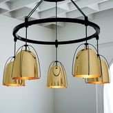 Rejuvenation Haleigh Wire Dome Chandelier, Metal Round Canopy - Lacquered Polished Brass
