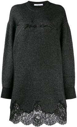Givenchy Lace Scalloped Sweater Dress