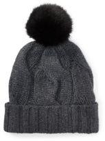 Ralph Lauren Rope Cable-Knit Pom-Pom Hat Antique Hthr One Size