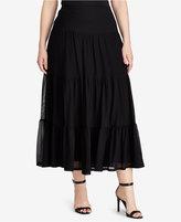 Lauren Ralph Lauren Plus Size Mesh Maxi Skirt