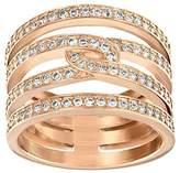Swarovski Women's Ring Glass Transparent – 51396, P (Manufacturer Size: 57 (18.1))