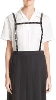 Noir Kei Ninomiya Women's Short Sleeve Satin Blouse