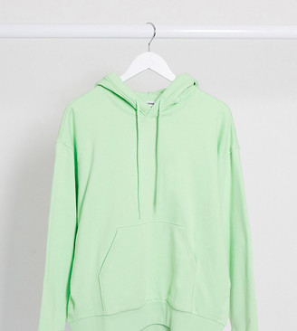 Weekday Alisa organic cotton oversized hoodie in light green