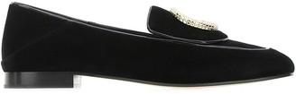 Chloé Crystal Embellished Loafers