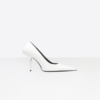 Balenciaga Square Knife 110mm Pumps in white nappa leather