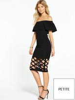 AX Paris Petite Bardot Cage Bottom Midi Dress - Black
