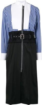 Sacai Contrast Panel Shirt Dress