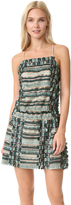Anna Sui Sequin Fringe Cross Back Dress
