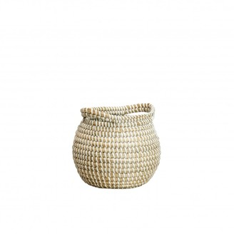 Also Home - Mini Seagrass Basket With Handles - White/Natural