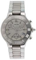 Cartier Must de 21 Stainless Steel Chronograph Watch, 38mm
