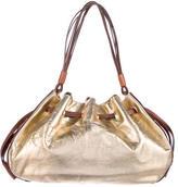 Kate Spade Metallic Drawstring Shoulder Bag