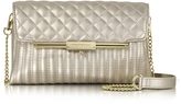 Roccobarocco Laminated Quilted Eco Leather Clutch