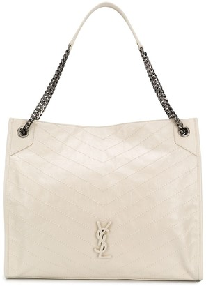 Saint Laurent large quilted Niki tote