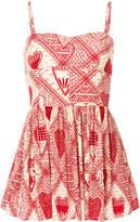 RED Valentino printed poplin dress