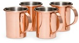 Threshold Moscow Mule Shot Glass 1.5oz Copper Set of 4