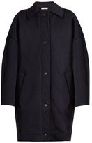 Balenciaga Diamond-quilted wool-blend cocoon coat