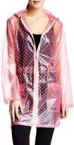 Isaac Mizrahi Women's Hooded Transparent Anorak Rain Jacket