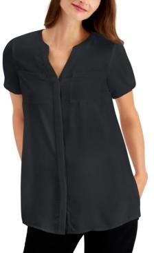 Alfani Petite Short-Sleeve Tunic, Created for Macy's