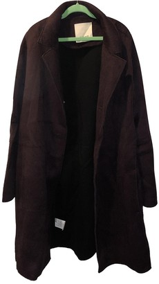 Pinko Burgundy Coat for Women