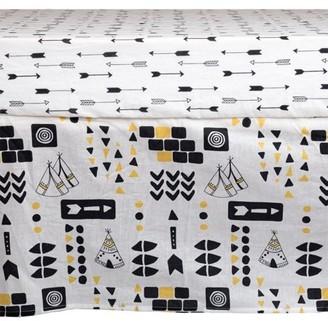 Poppi Living Aztec Premium Cotton Crib Skirt