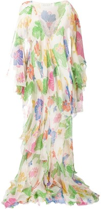 Etro Floral Draped Dress