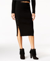 Jessica Simpson Juniors' Liv Ribbed Lace-Up Skirt