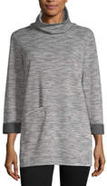 Liz Claiborne Weekend Womens Cowl Neck 3/4 Sleeve Tunic Top