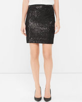 White House Black Market Black Sequin Pencil Skirt
