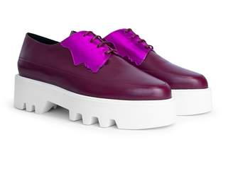 Unreal Fields 2 Faced - Fuchsia Leather Platform Creepers