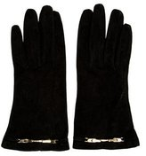 Fendi Suede Embellished Gloves