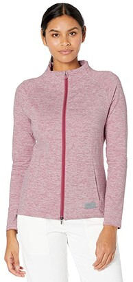 Puma Golf Warm Up Jacket Black Heather) Women's Coat