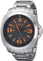 HUGO BOSS BOSS Orange Men's 1513099 BRISBANE Analog Display Quartz Silver Watch