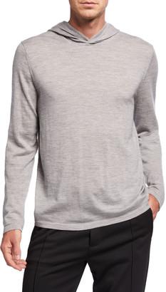 Vince Men's Pullover Wool Hoodie