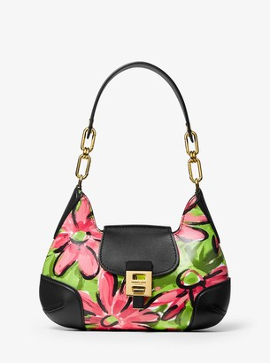 Michael Kors Bancroft Medium Daisy Calf Leather Shoulder Bag