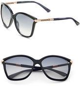 Jimmy Choo 70mm Oversized Glitter Sunglasses