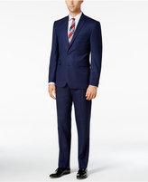 Vince Camuto Men's Slim-Fit Blue Sharkskin Suit