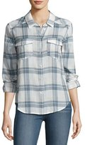 Paige Mya Plaid Pocket Shirt, Pristine