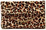 KAREN MILLEN Leopard Print Chain Detail Clutch Bag