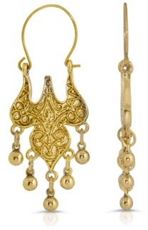2028 Islamic Wire Hoop Drop Earrings