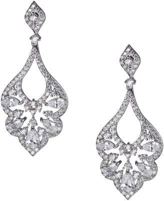 Reign PAJ-Bridal Rhodium-Plated Sterling Silver Cubic Zirconia Drop Earrings