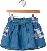 Paul Smith Girls' Gingham Print Denim Skirt