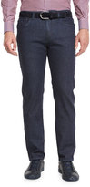Ermenegildo Zegna Five-Pocket Dark-Wash Stretch-Denim Jeans, Navy