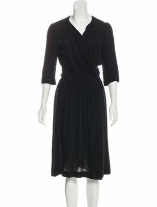 Isabel Marant Linen Midi Dress Black