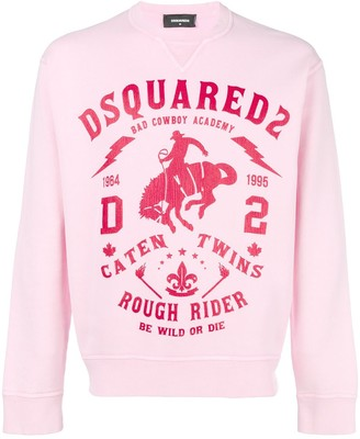 DSQUARED2 Print Jersey Sweater