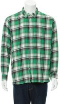 Balmain Plaid Button-Up Shirt