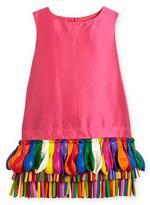 Charabia Ida Sleeveless Taffeta Shift Dress w/ Balloons, Fuchsia, Size 5-8
