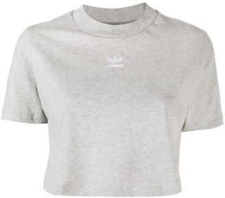 adidas trefoil logo cropped T-shirt